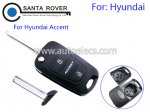 Hyundai Accent Folding Key Shell 3 Button