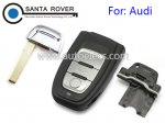 Audi A4L Q5 Remote Key Case Cover 3 Button full set