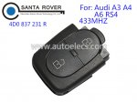 Audi Remote (R) 2 Button 4D0 837 231 R 433Mhz