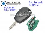 Renault Clio Kangoo Master Remote Key 2 Button PCF7946AT NE73 Blade 433Mhz