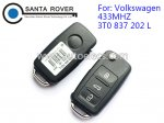 Volkswagen VW 3button Remote Flip Key (433Mhz,3T0 837 202 L)