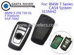 BMW CAS4 System F Platform 7 Series Smart Remote Key Card 4 buttons 315Mhz Silver Or Black